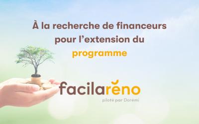 PROGRAMME « Facilaréno2 » porté par l'Institut négaWatt : appel à financement pour 13,7 millions d'euros (1,958 TWhcumac)